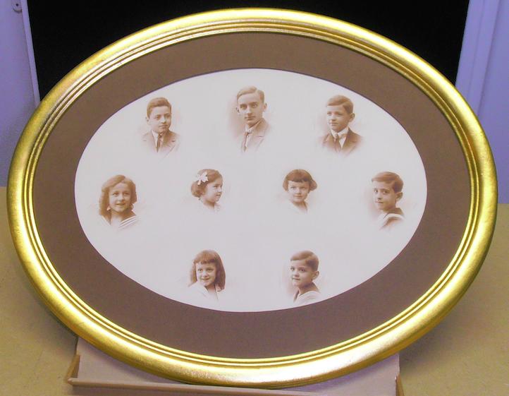 Photo de famille en ovale
